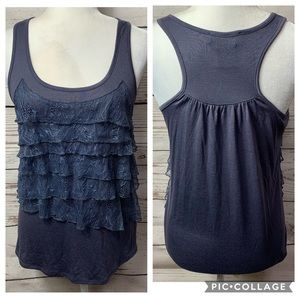 NWOT MM Couture Tier Lace Detail Tank Top